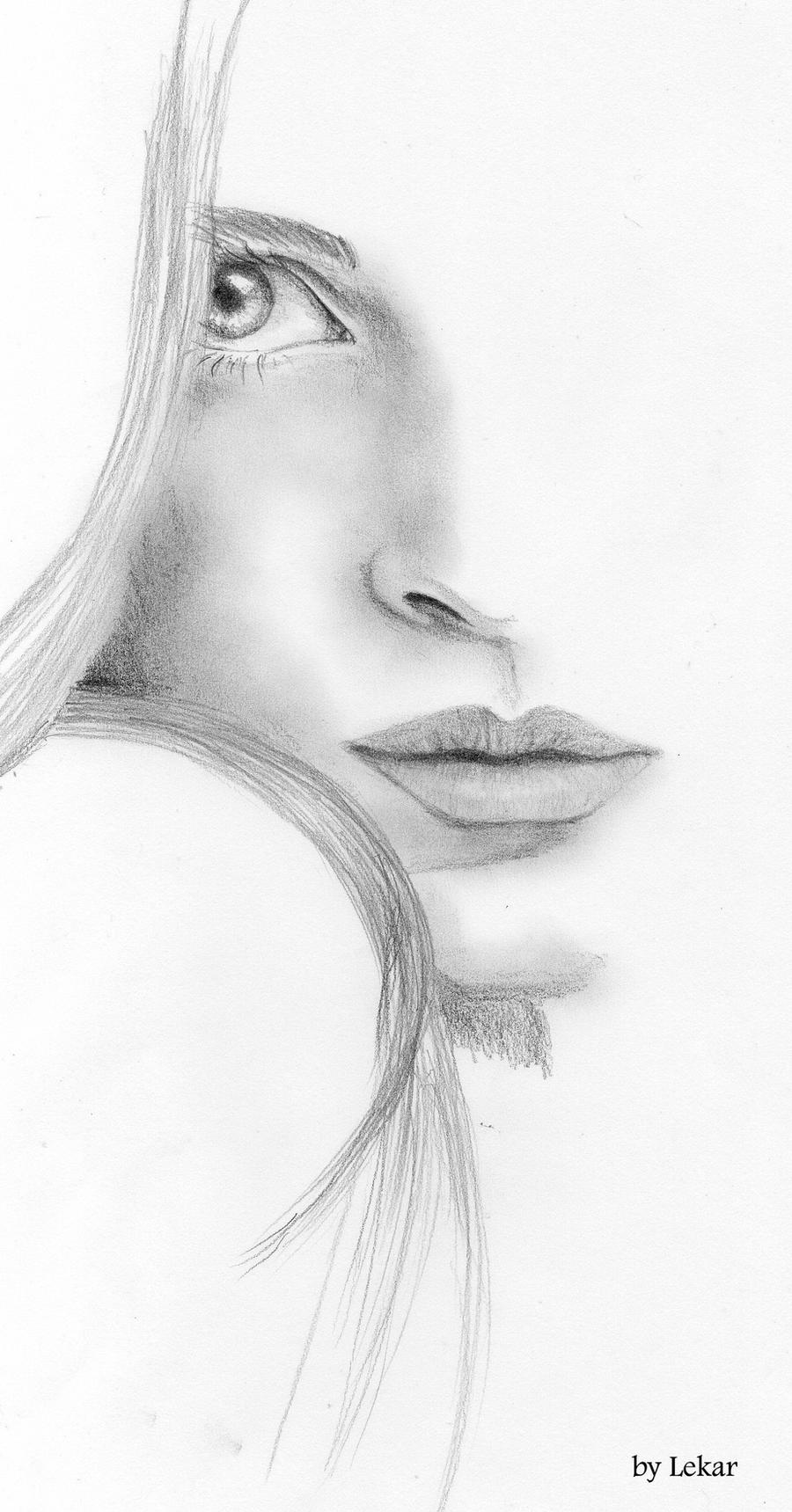 Woman Face Sketch By Lanfear Chess On DeviantArt