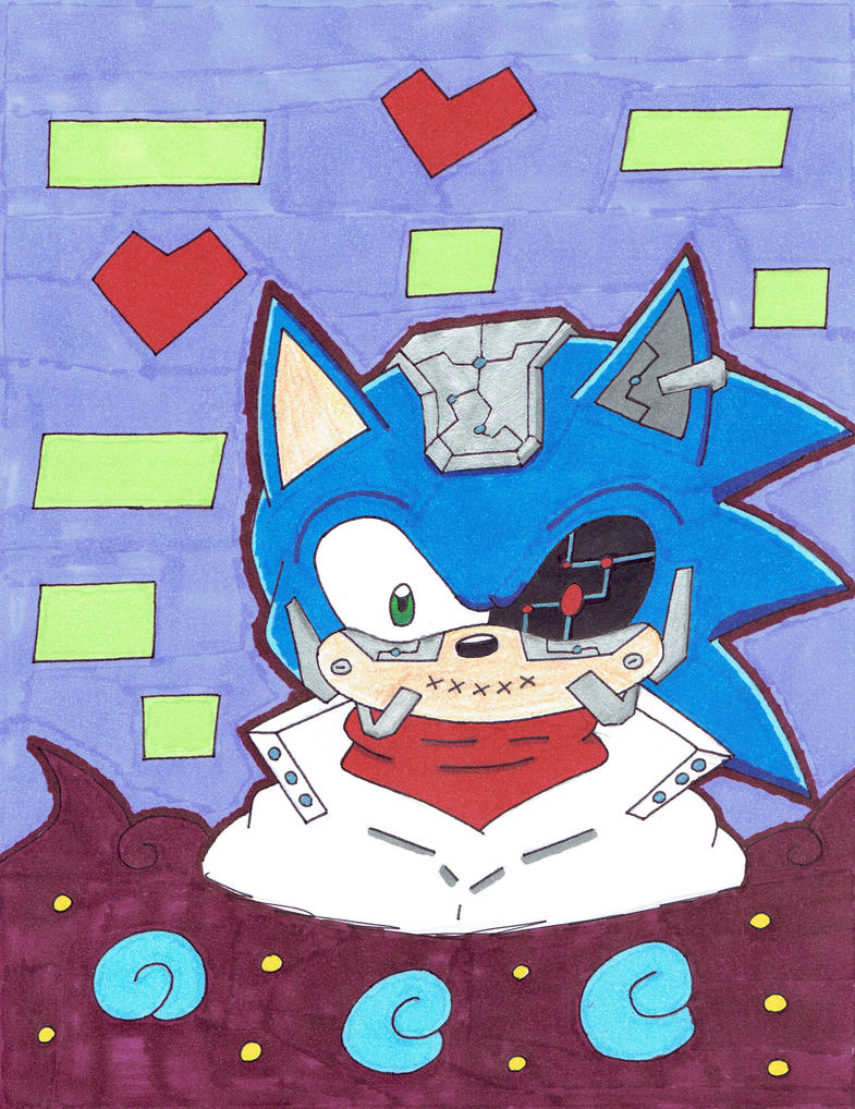 Cyborg Sonic by Shadow--Force