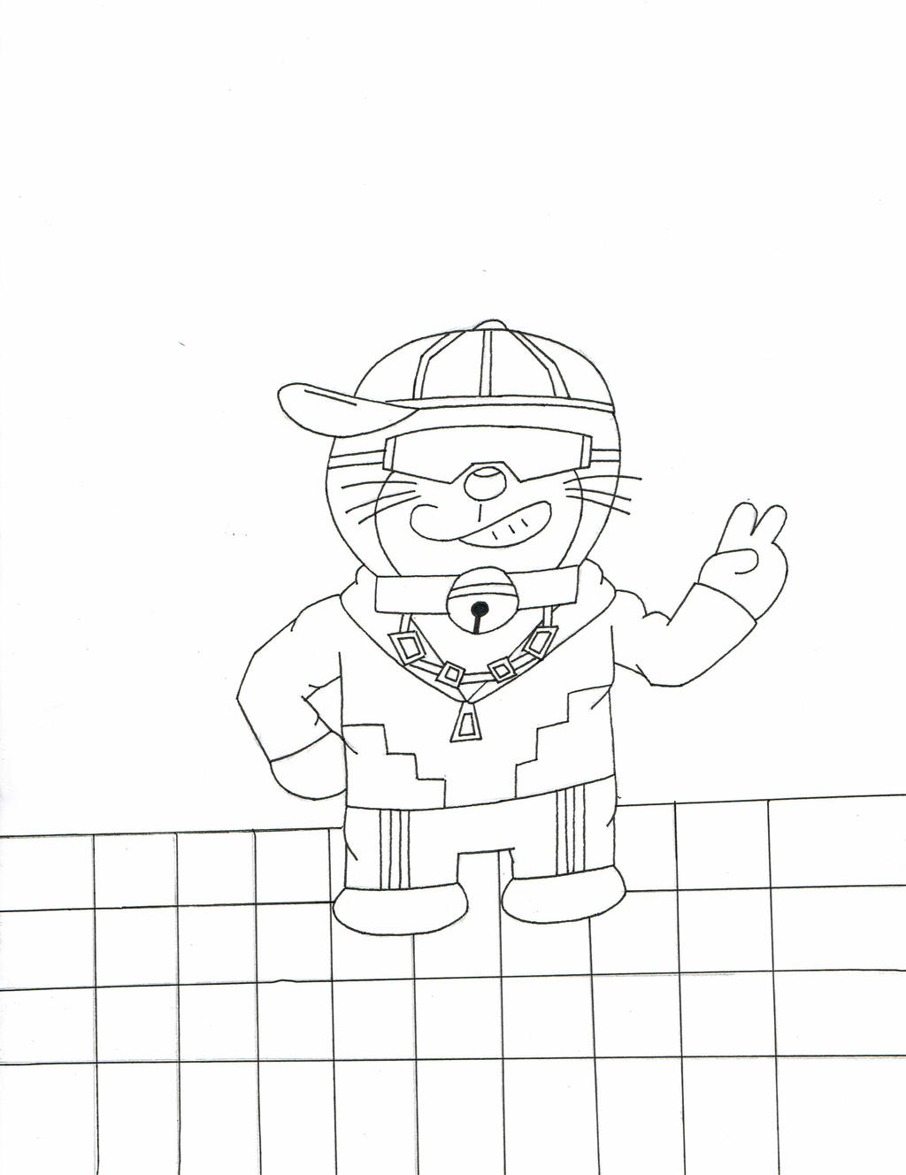 Doraemon got swag lineart by Shadow--Force
