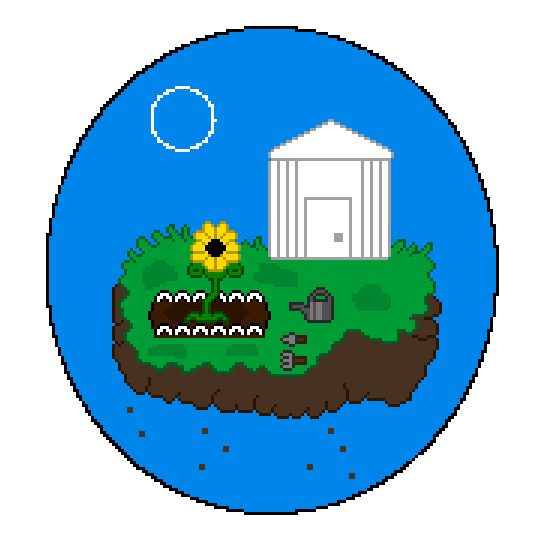 Floating Pixel Garden by Shadow--Force
