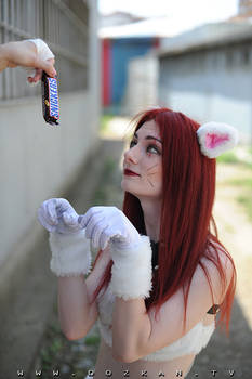 Here, Kitty Kitty! Kitty Cat Katarina Cosplay