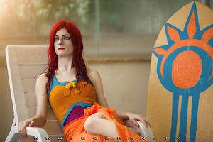 Pool Party Leona Cosplay - League of Legends by ddenizozkan