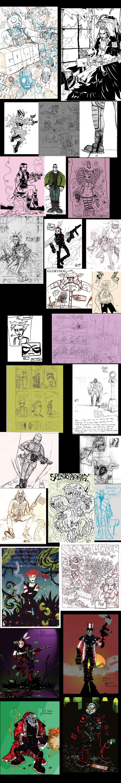 Messiah Complex Sketch Dump by christianpanic