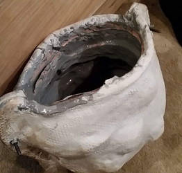 Helmet mold with resin Curing inside
