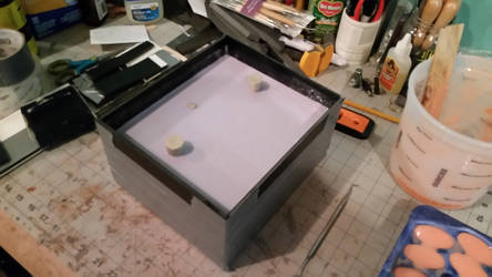 Neck Seal mold in its box with second half