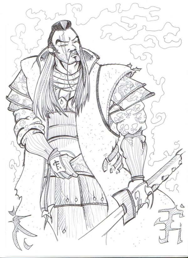 Samurai banzai by Ciobar