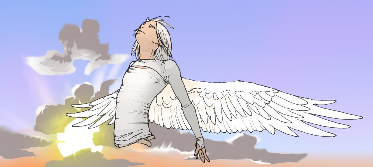 Doven the half angel by veki-kun