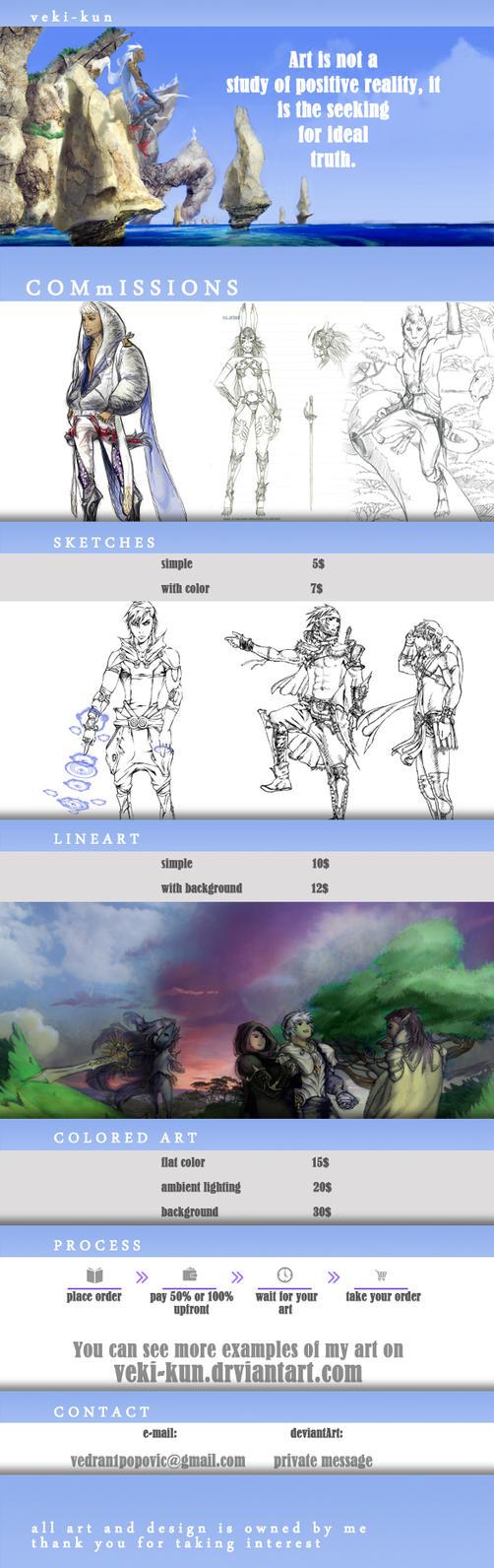 Commissions by veki-kun