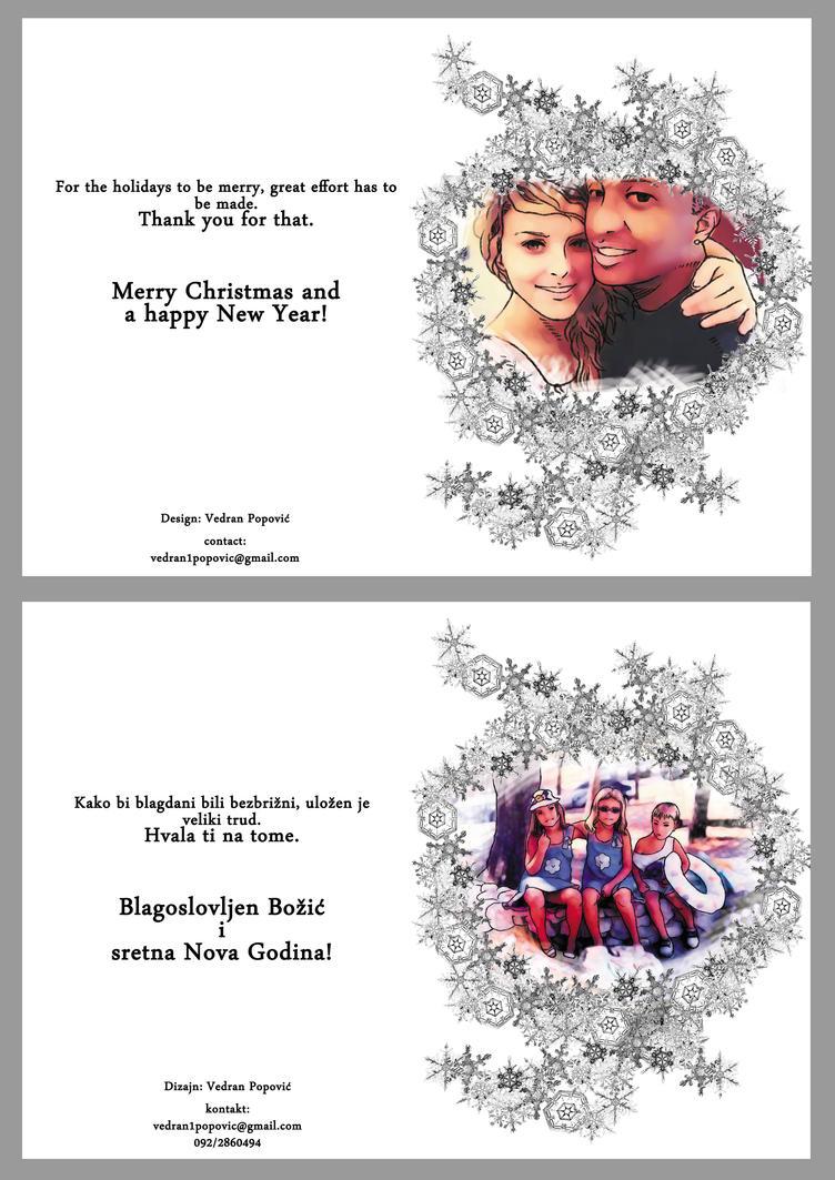 Custom made Christmas cards by veki-kun
