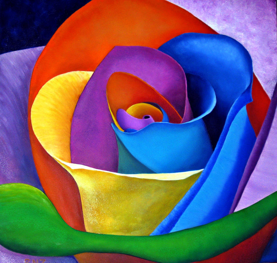 Rainbow rose by znkf0908 on deviantart for What are rainbow roses