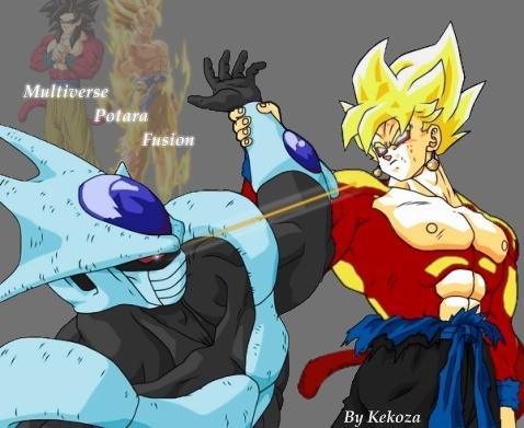 Goku And Gohan Fusion Ssj4 Potara multiverse goku fusionGoku And Gohan Fusion Ssj4