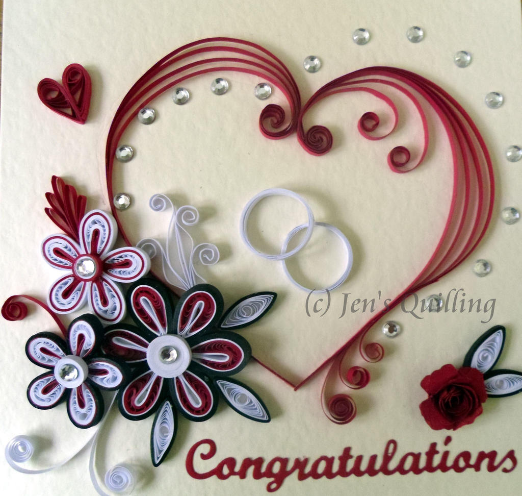 Greetings on art quilling deviantart mutin0us 5 1 quilled engagement card by jensquilling kristyandbryce Image collections