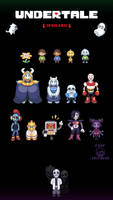 Undertale Sprites by FreezyFoop