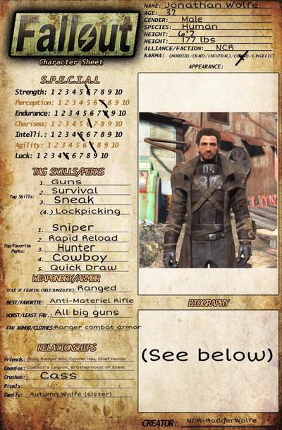 Fallout OC-Ranger Jonathan Wolfe by NCR-RangerWolfe