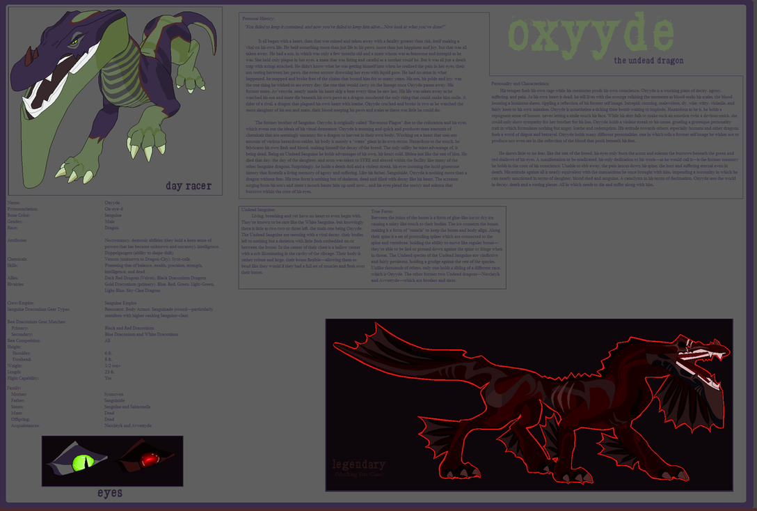 Oxyyde: Character Sheet V.1 by Alexis101