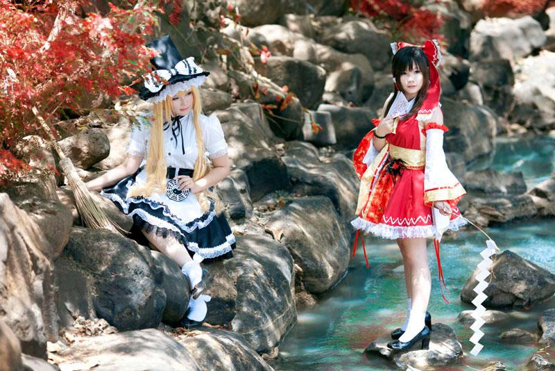Marisa and Reimu by o0oFairyo0o