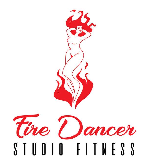 Concept logo design-Fire Dancer Studio Fitness 01 by B-neoZEN