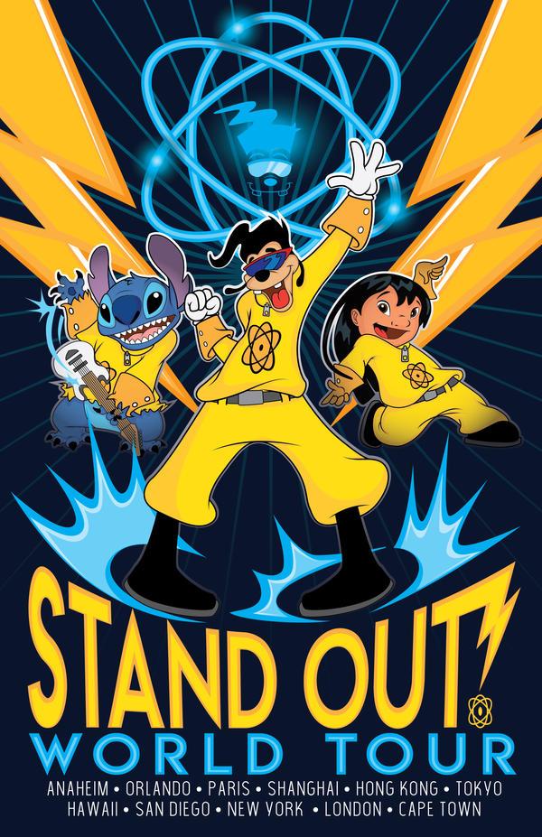 STANDOUT World Tour-Max Goof with Lilo and Stitch by B-neoZEN