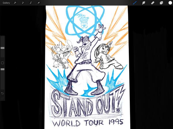 STANDOUT World Tour-WIP Sketch by B-neoZEN