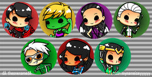 Young Avengers Buttons