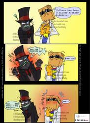 Villainous Dr. Flug x Black hat comic