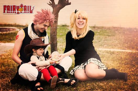 Natsu, Lucy and Asuka