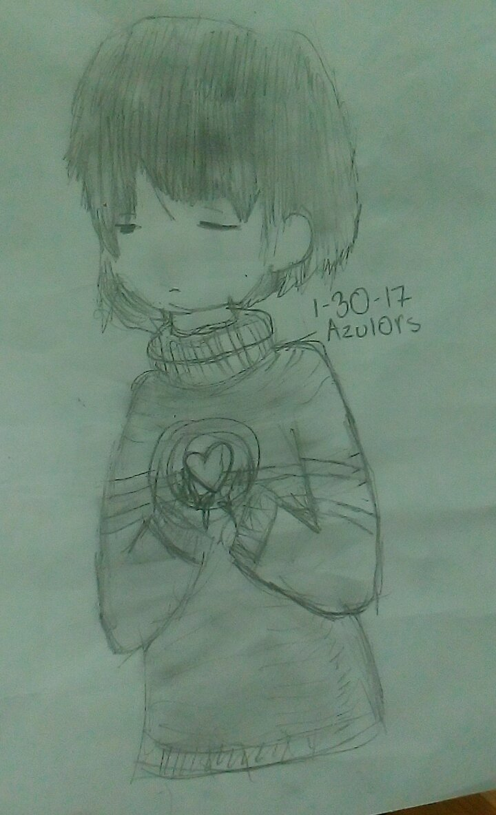 Frisk Undertale By Azulors by Azulors