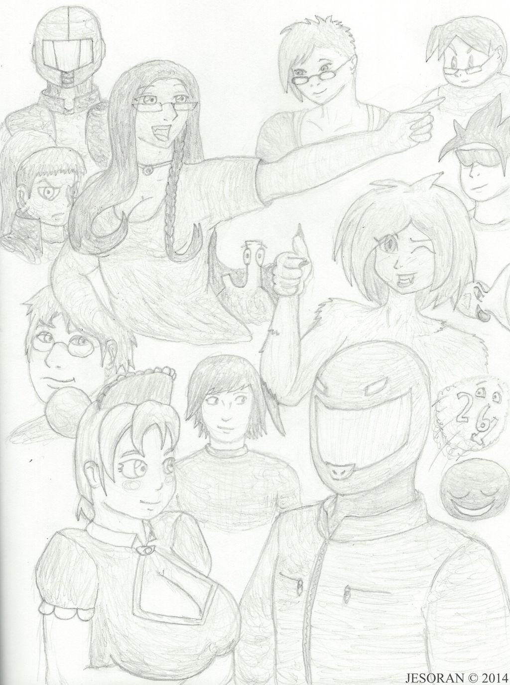 Alorok's Sketchpad Attendant Collage by Jesoran