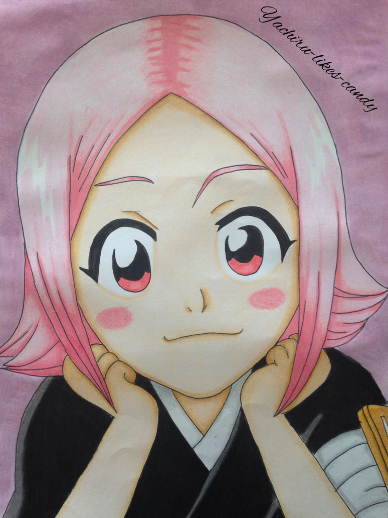Yachiru Kusajishi with background by Yachiru-likes-candy