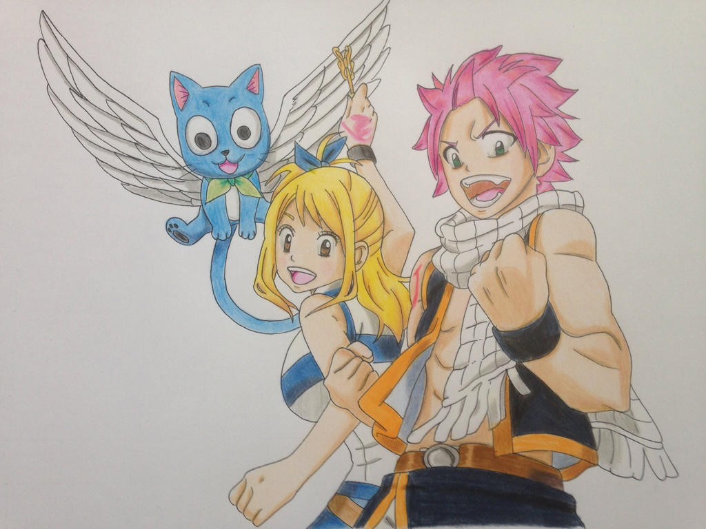Lucy, Natsu and Happy by Yachiru-likes-candy
