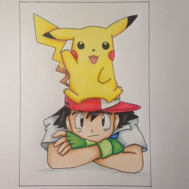 PIkachu and Ash by Yachiru-likes-candy