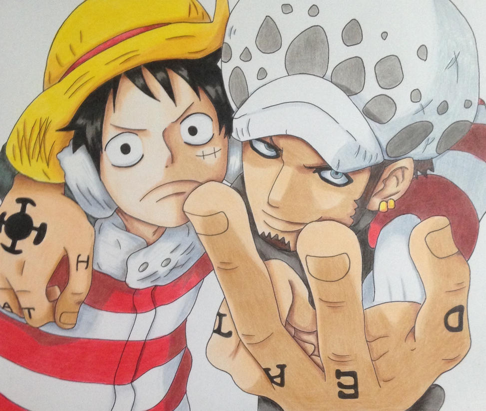 Luffy and Law  by Yachiru-likes-candy
