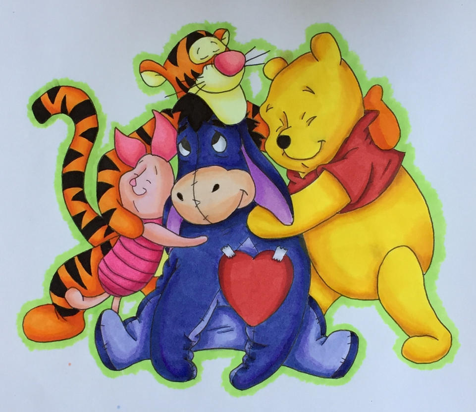 Winnie the Pooh and friends by Yachiru-likes-candy