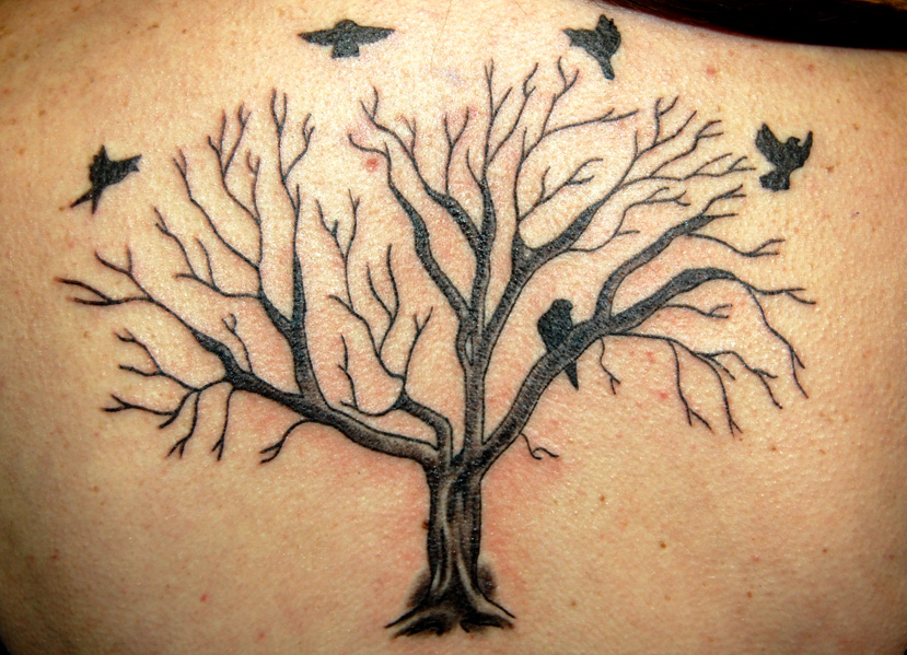 Tree tattoo by tstctc on deviantart for Dead tree tattoos