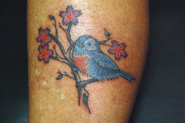 Blue birds tattoo - photo#9
