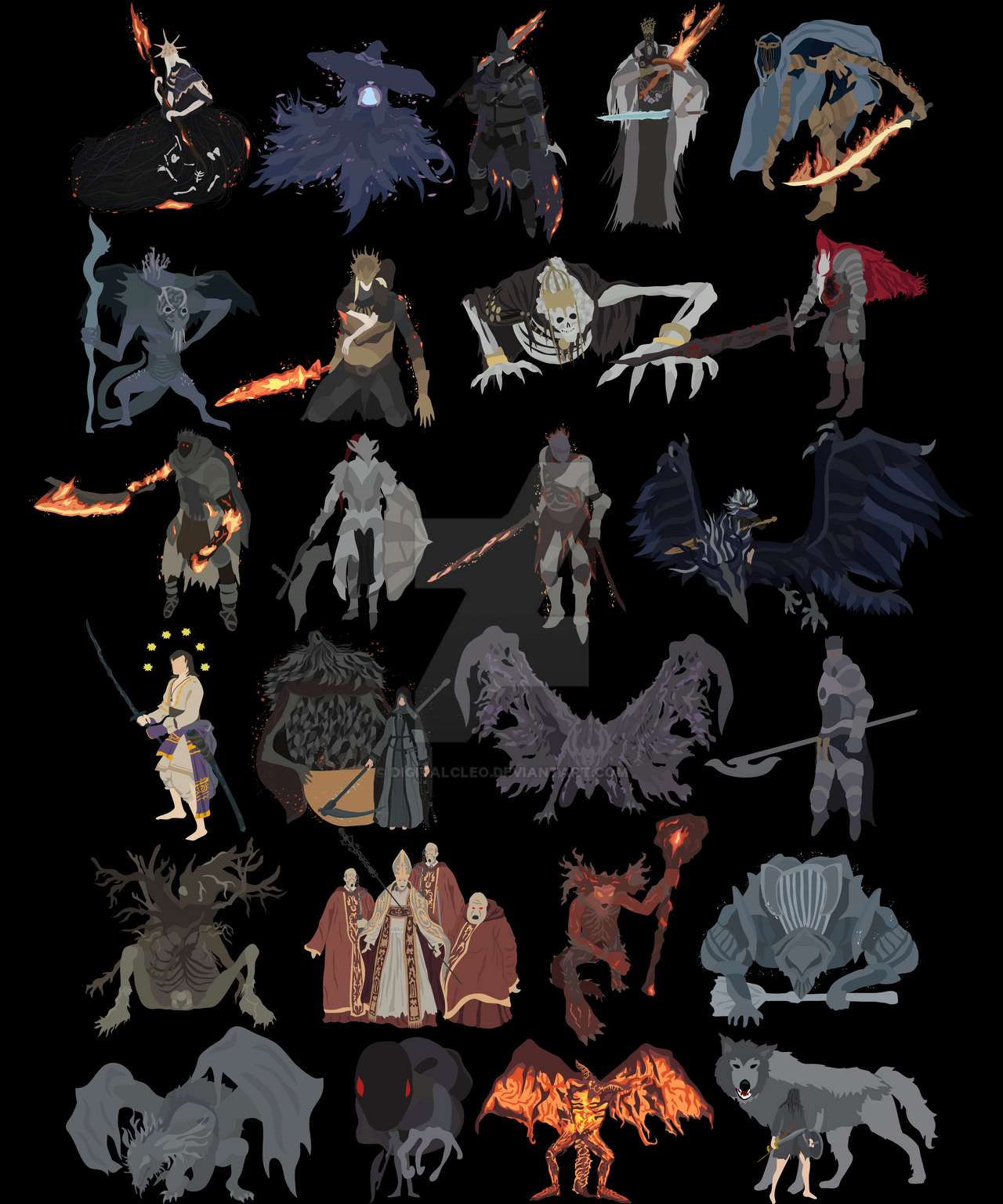 Dark souls iii all bosses complete edition by for Dark souls 3 architecture
