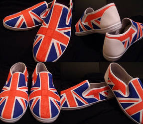 Union jack shoes. by GeekerSneakerUK