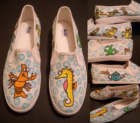Lobster and starfish. by GeekerSneakerUK
