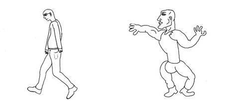 virgin vs chad meme template
