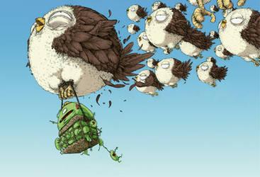 The birds by BattlePeach
