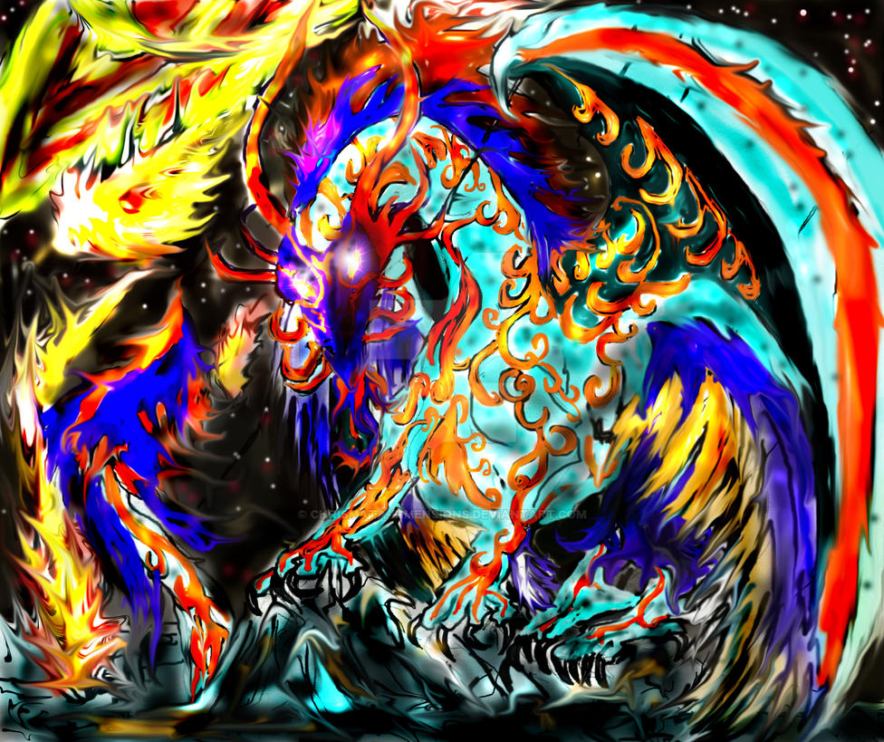 Star Dragon by chrismata-dimensions