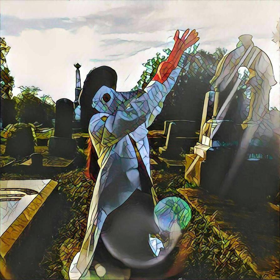 Cosplay Medic at Rose Hill Cementary Macon Ga by chrismata-dimensions