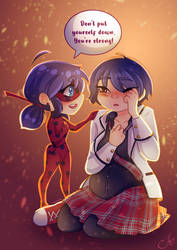 Kagami And Chibi Ladybug By Wintertundras