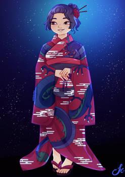 Yukata Kagami Commission By Wintertundras