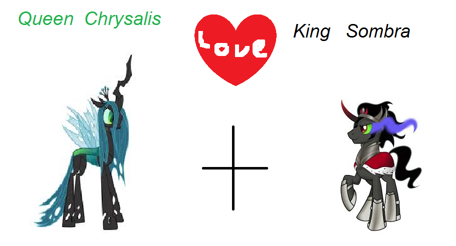 Queen Chrysalis And King Sombra Queen Chrysalis...