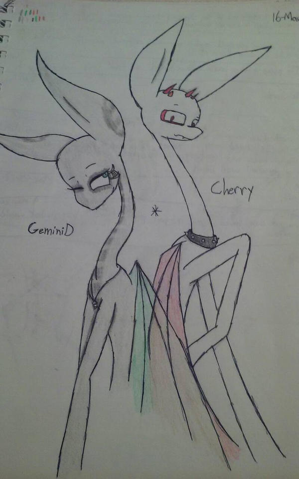 GeminiD and Cherry by inktheartistdude