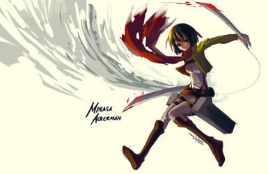 Shingeki no Kyojin : Mikasa Ackerman by ClearEchoes