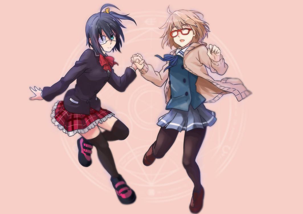 Collabs : Takanashi Rikka and Mirai Kuriyama by ClearEchoes
