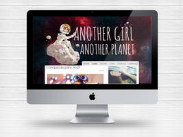 Layout Blog Another Girl Another Planet by Paloma182