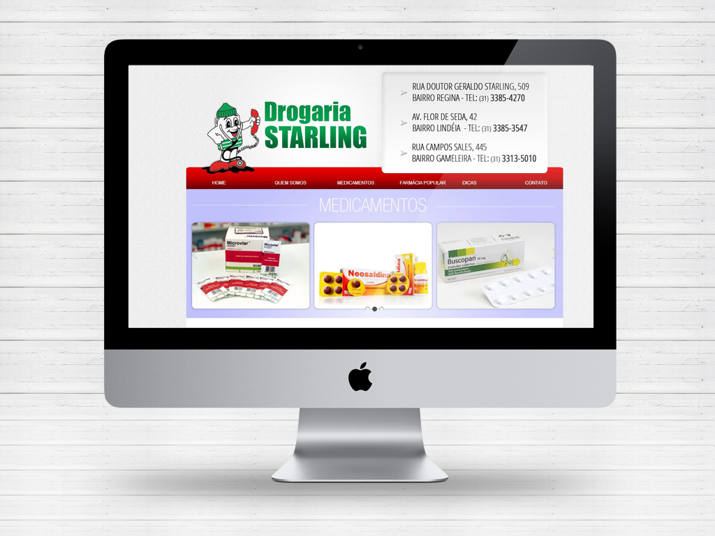 Layout site Drogaria Starling by Paloma182
